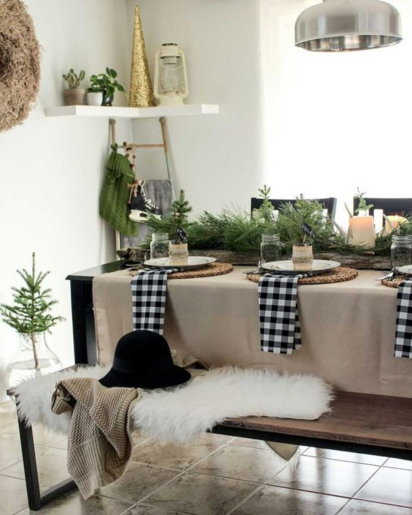 Scandinavian interior design natural Christmas