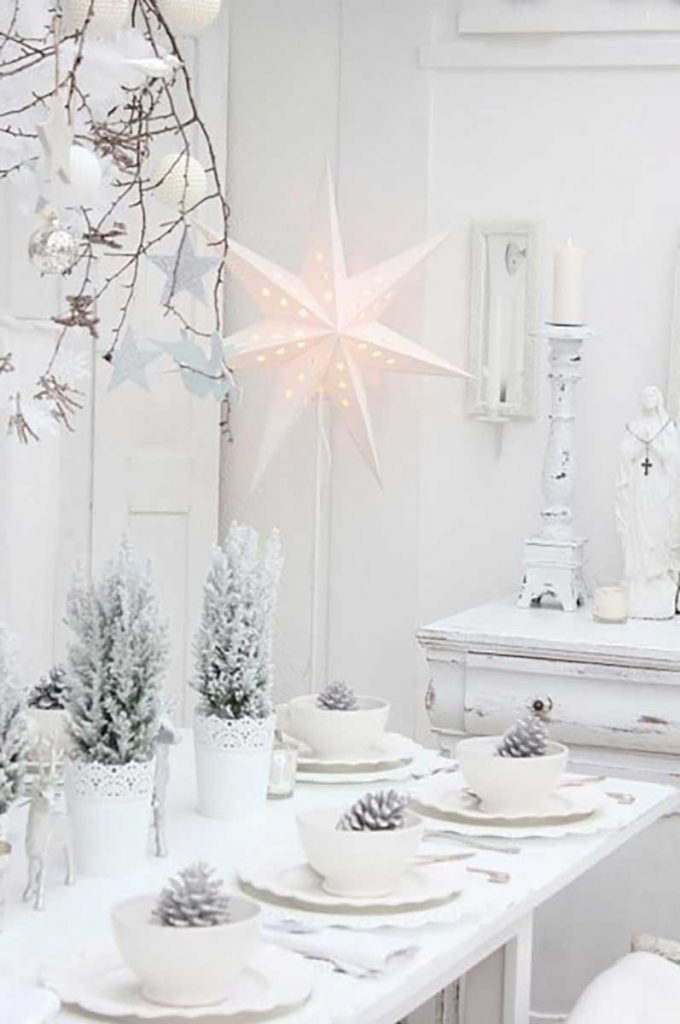 Scandinavian interior design white Christmas