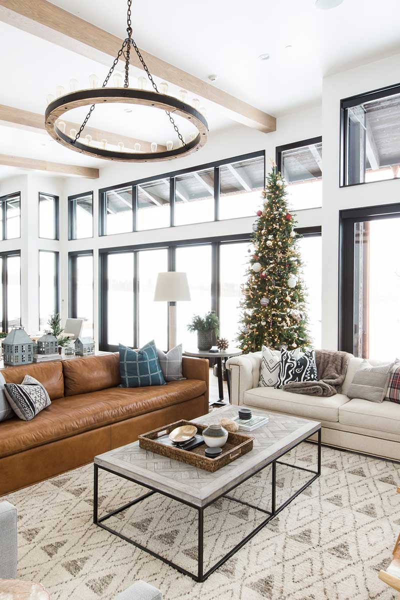 Christmas interior decorating lounge room