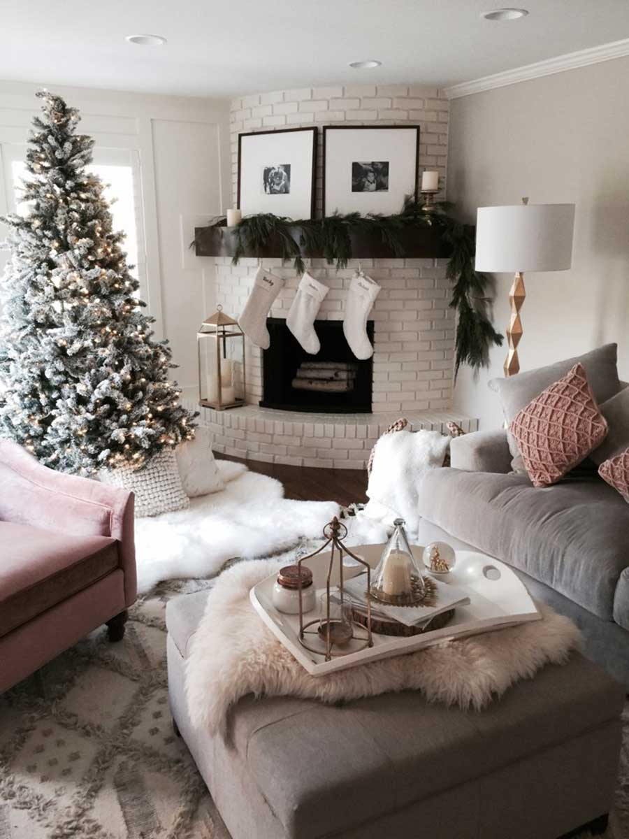 Christmas interior decorating living room