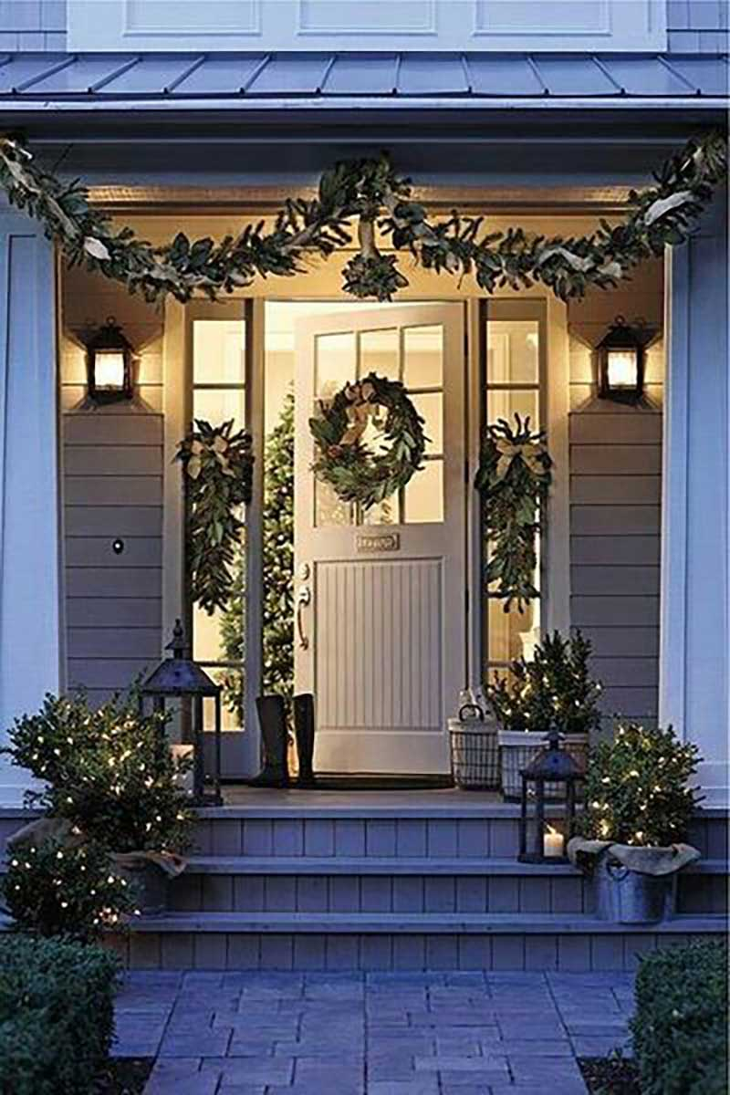 Christmas interior decorating porch