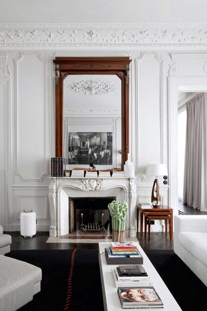 french style fireplace living room