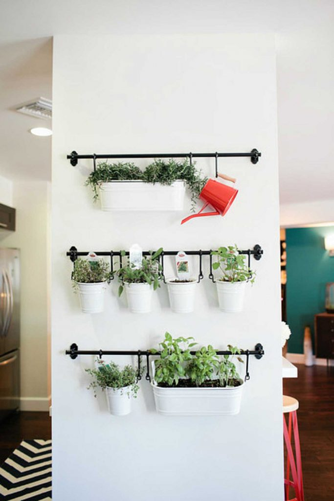 hanging herb garden on rods