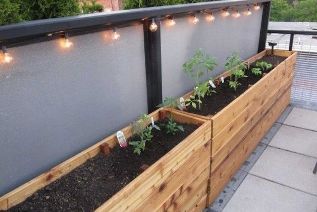 outdoor herb garden box planters
