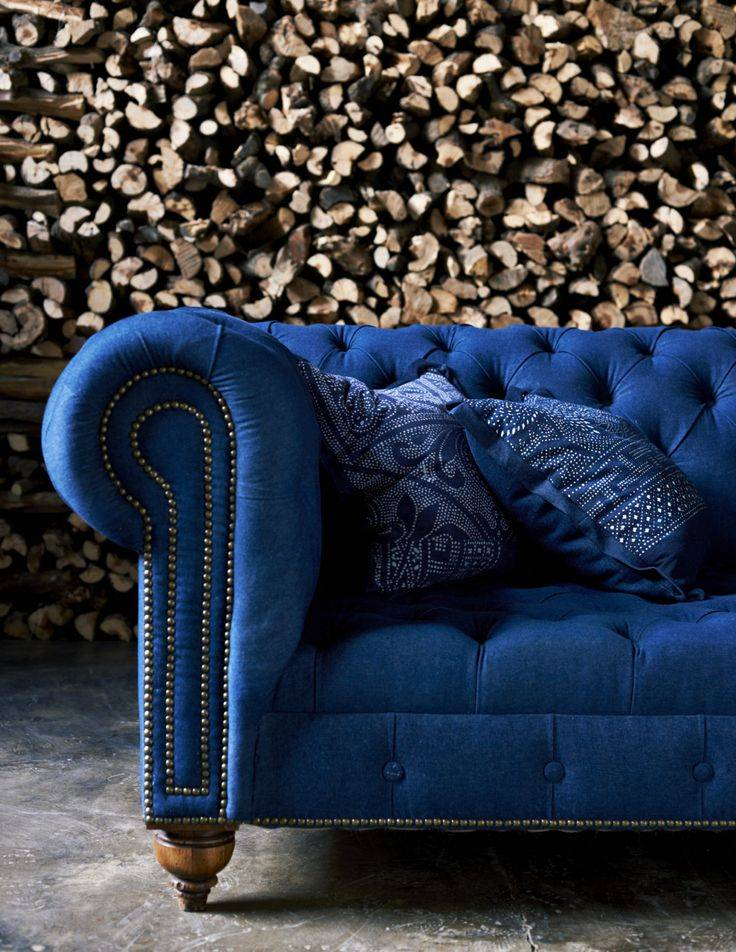 luxe blue couch