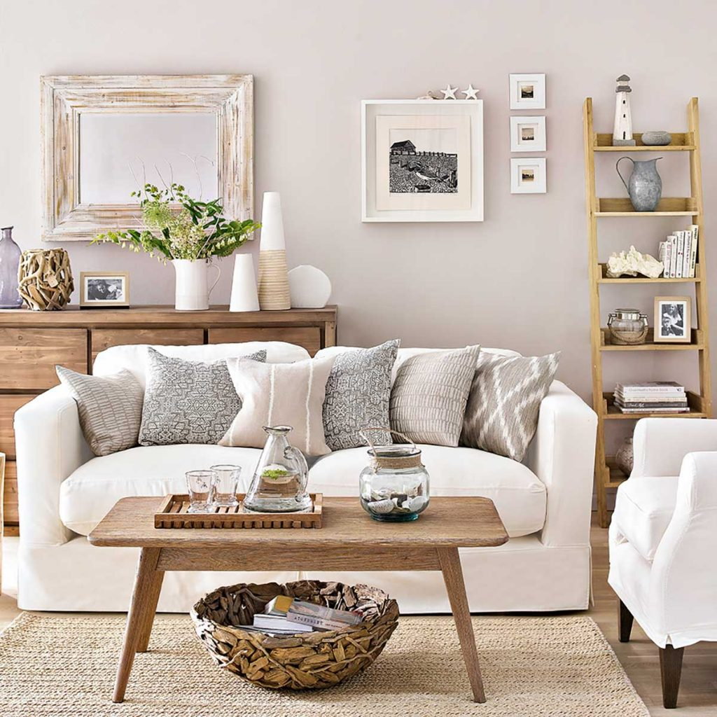 home interior design styles summer neutral coastal living room