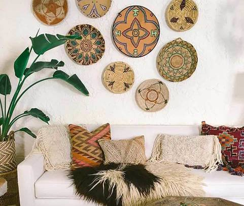 boho living room summer style