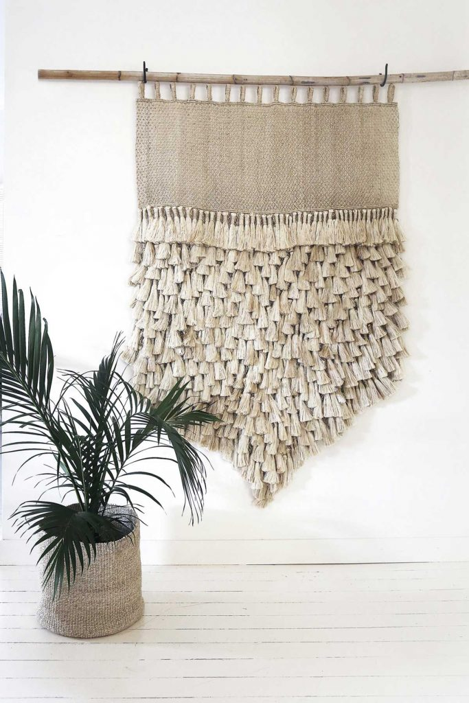 coastal tassel wall hanging