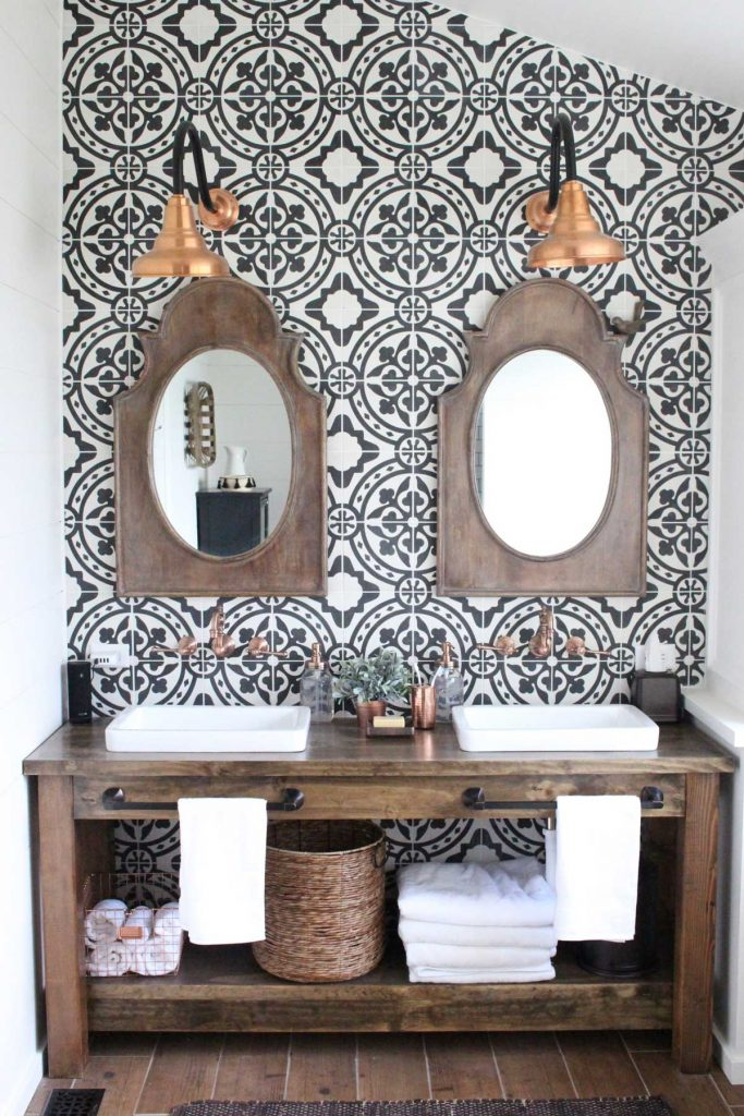 tribal interior design bathroom