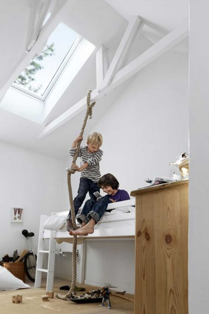 playful attic designed for kids