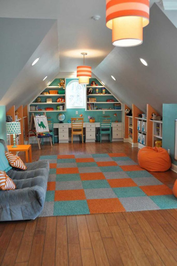 funky attic design