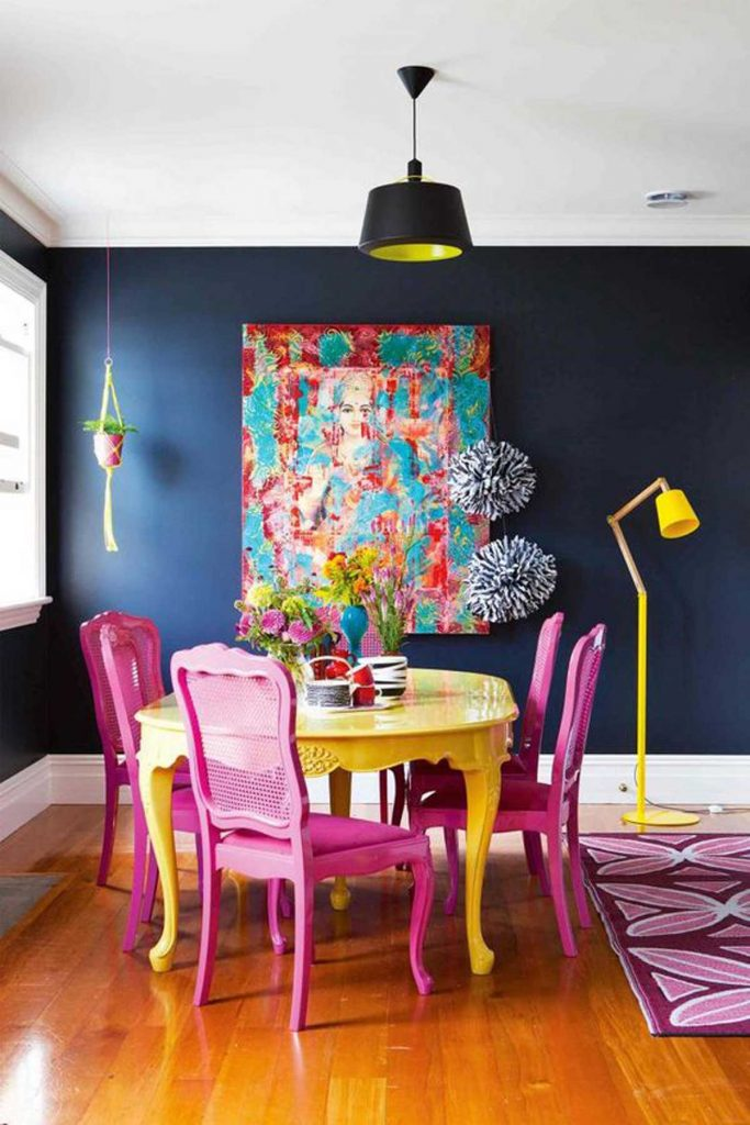 modern eclectic dining room