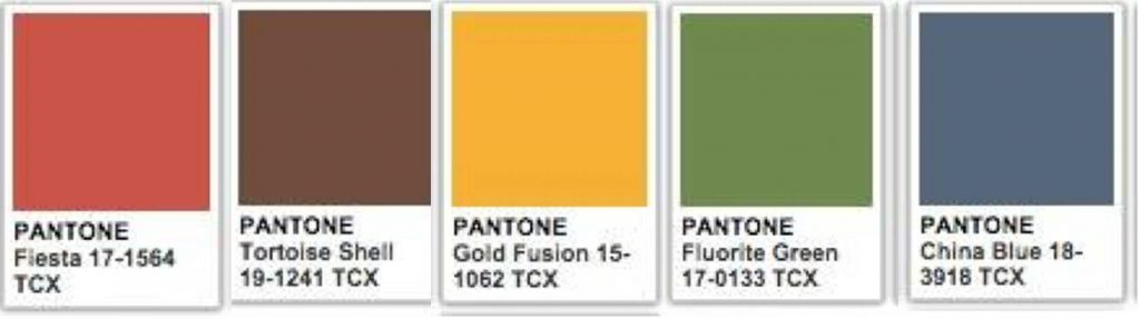 retro interior design pantone
