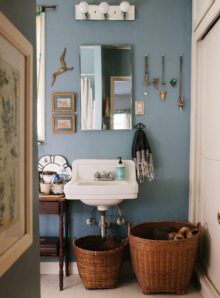rustic interior baskets