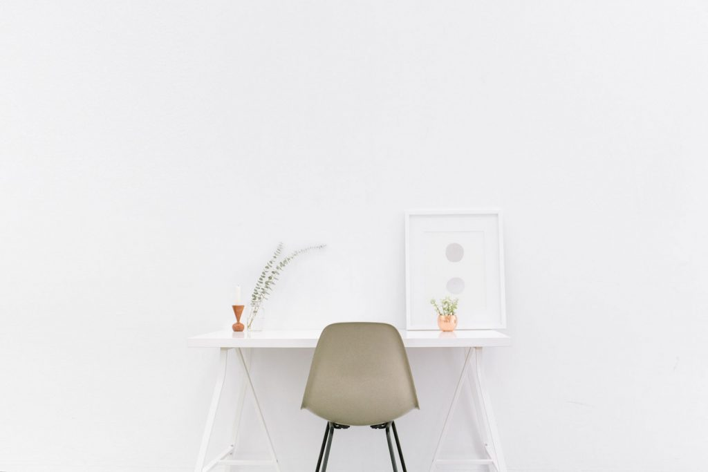 minimalist white chair
