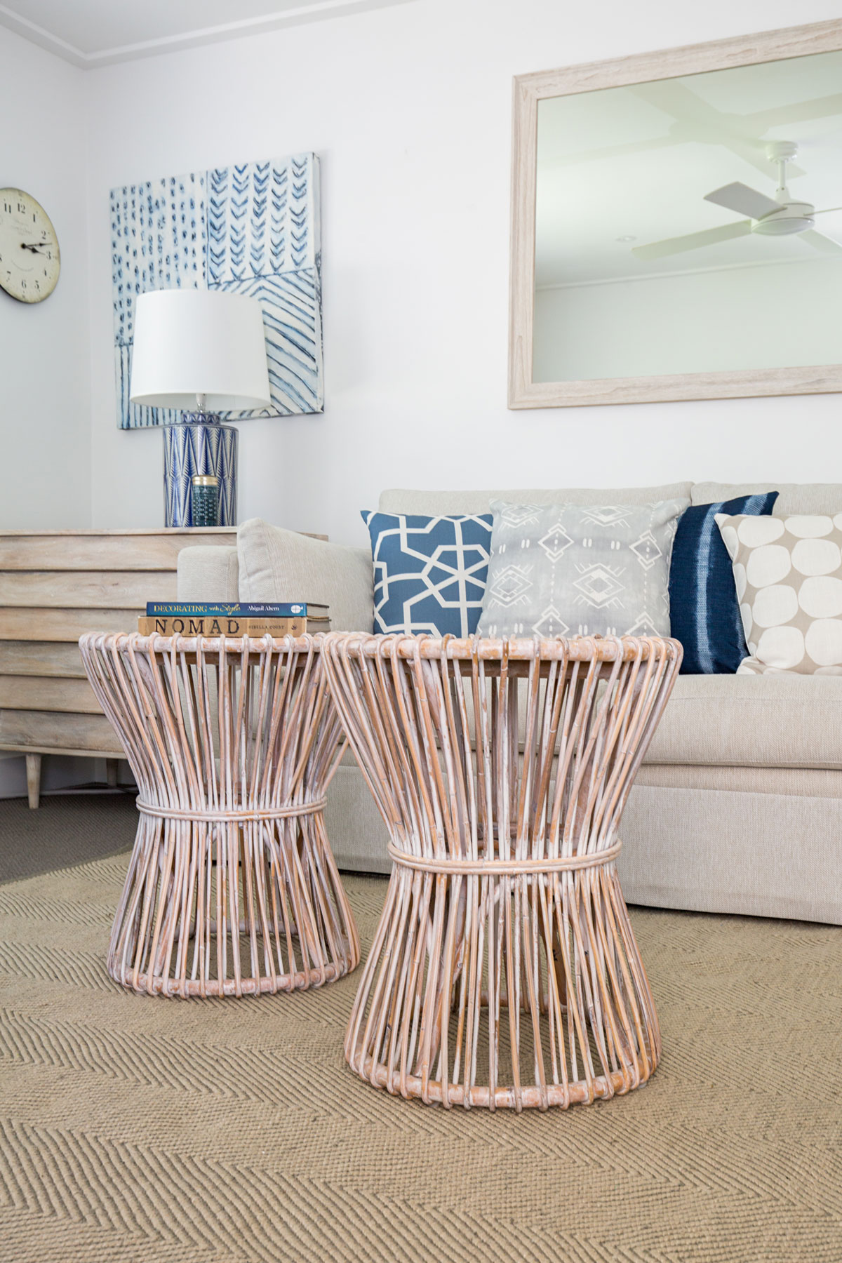 Wicker Coffee Table Living Space