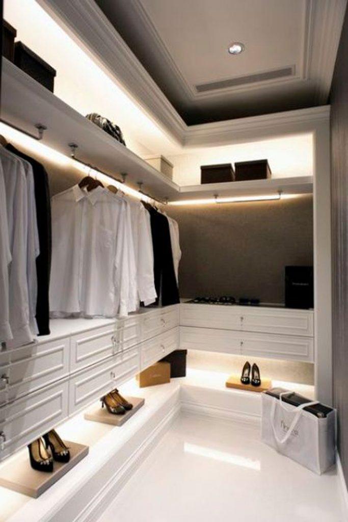 closet design lighting