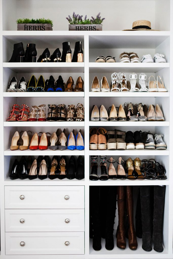 celebrity shoe closet design