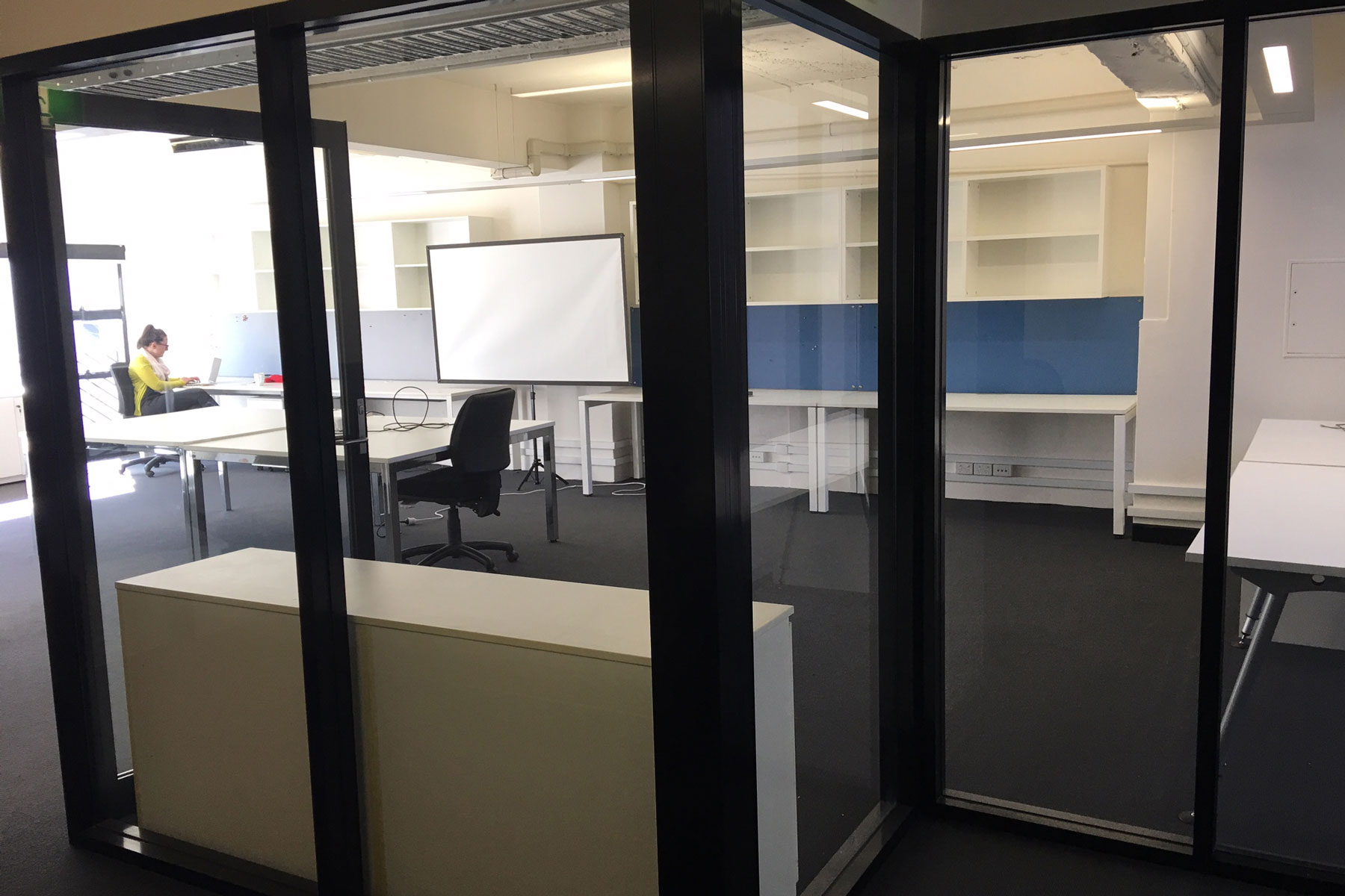 office fit out glass window