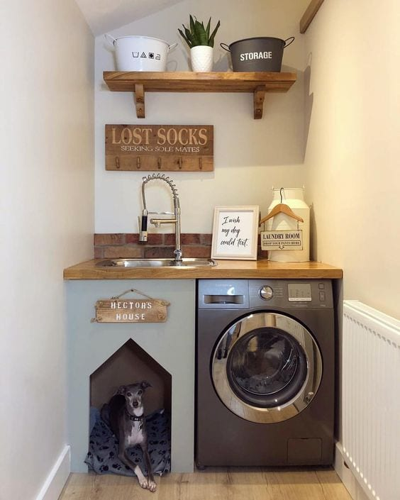 interior design with pets in mind dog laundry bed